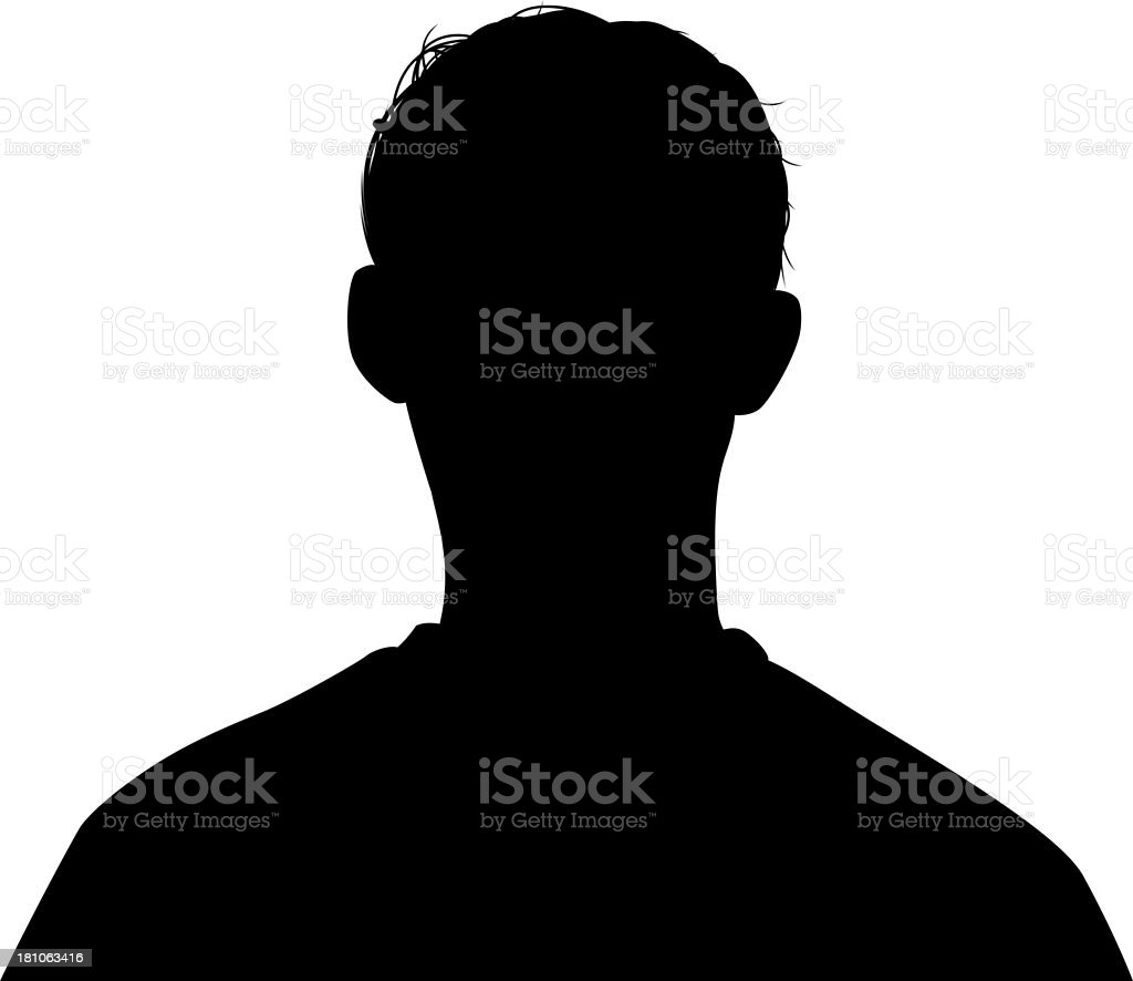 Head Silhouette vector art illustration