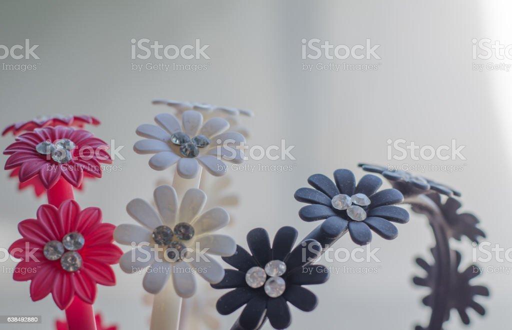 Headband floral print closeup vector art illustration