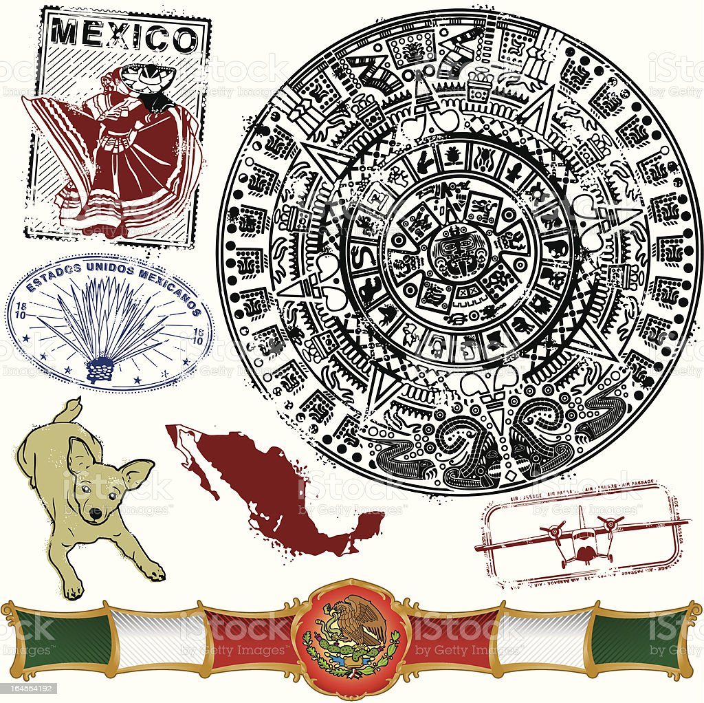 Headin on down to Old Mexico vector art illustration