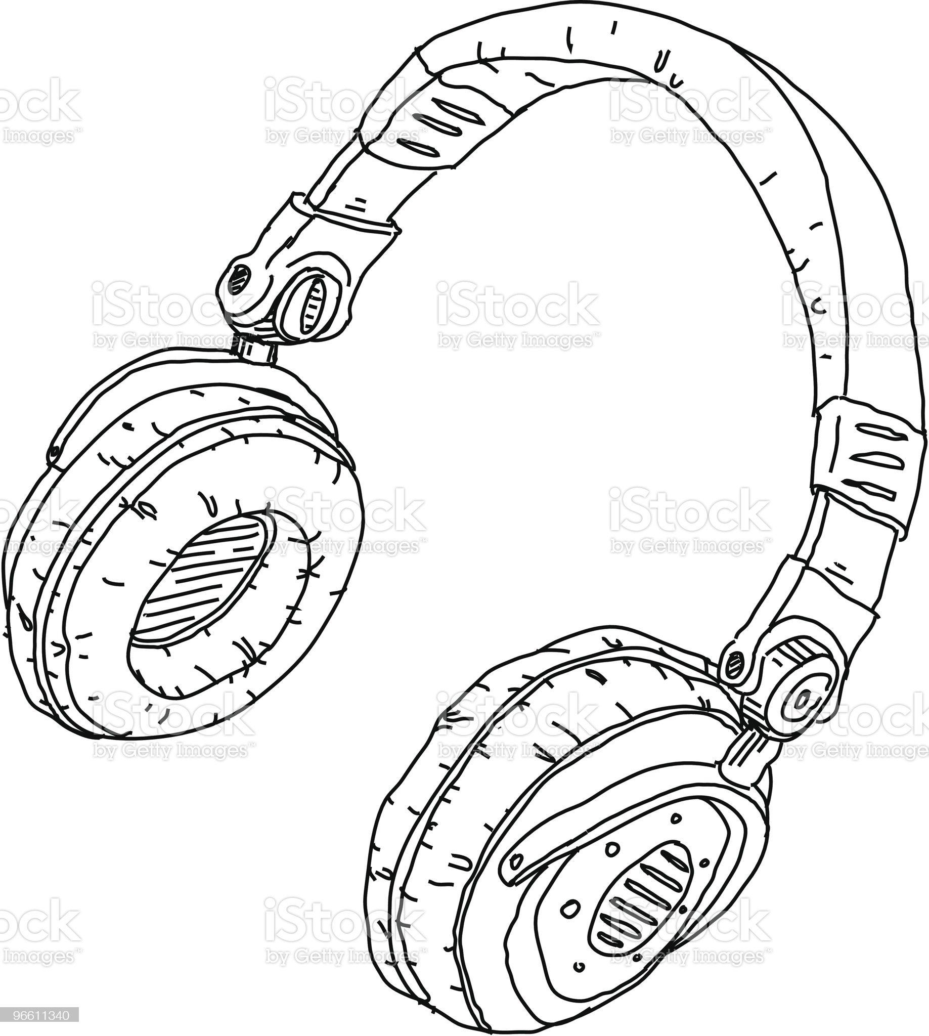 Headphones royalty-free stock vector art