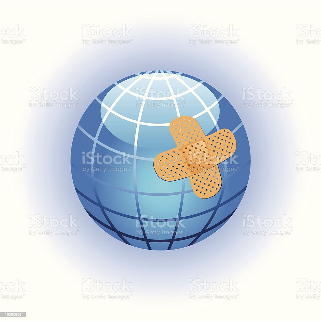 Heal the world royalty-free stock vector art