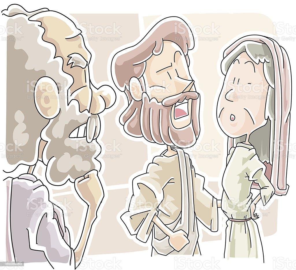 Healing on the Sabbath vector art illustration