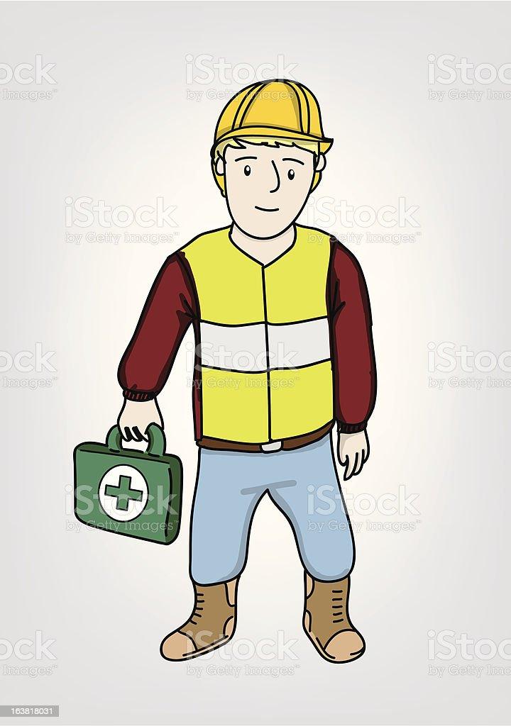 Health and Safety man royalty-free stock vector art