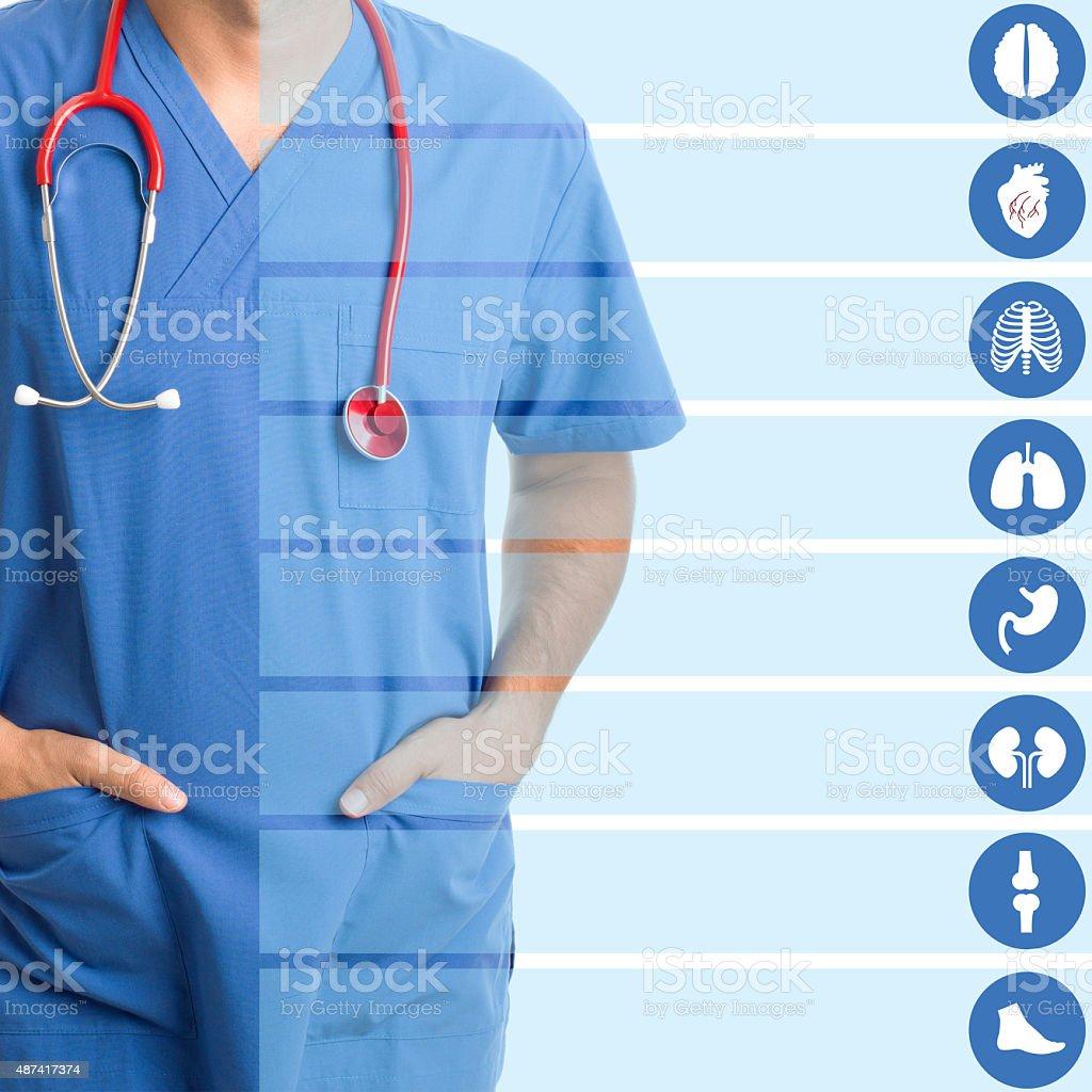 Health applications concept vector art illustration