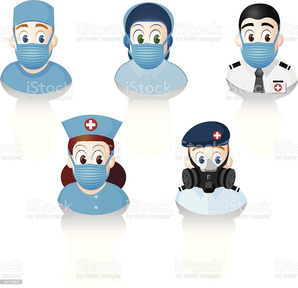 Health Care Professionals / Flu Fighter vector art illustration