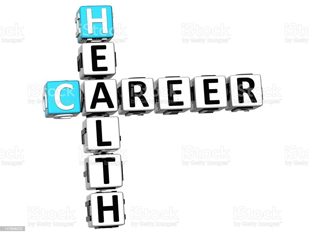3D Health Career Crossword royalty-free stock vector art