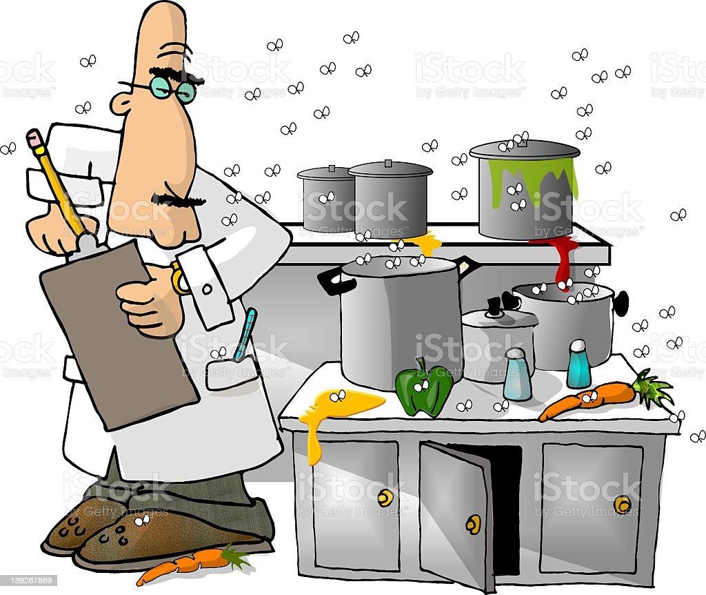 Health Inspector vector art illustration