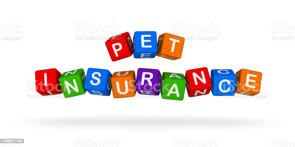 Health Insurance Colorful Sign. Multicolor toy blocks. vector art illustration