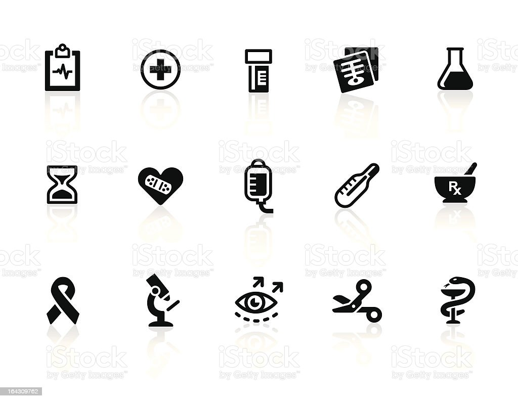 Healthcare and Medicine icons 2 vector art illustration