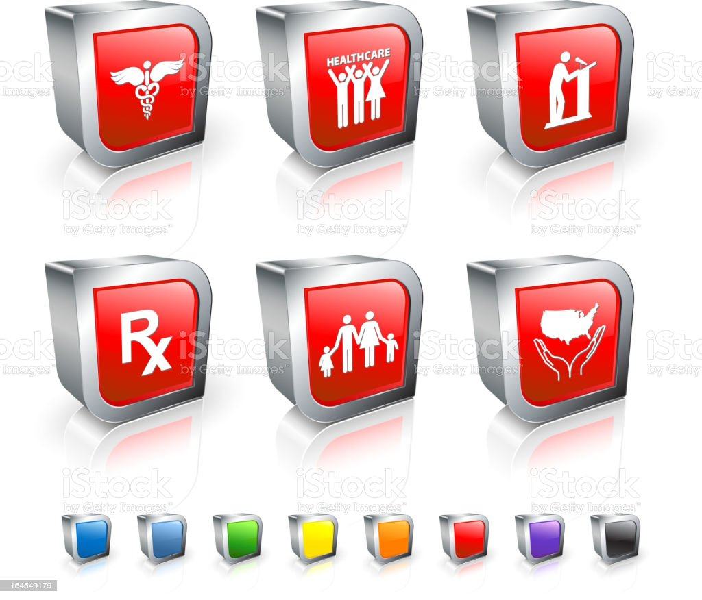 US healthcare reform royalty free vector icon set royalty-free stock vector art