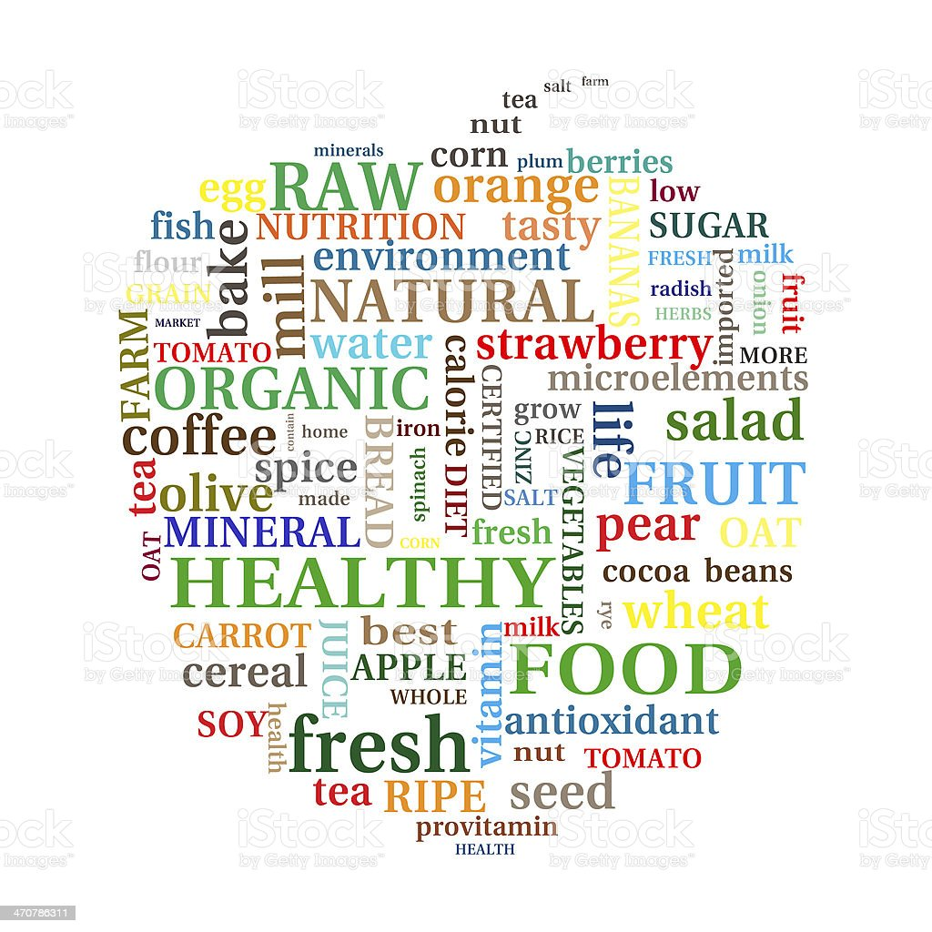Healthy food concept royalty-free stock vector art