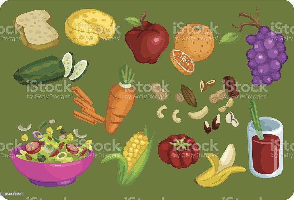 Healthy Food Elements royalty-free stock vector art