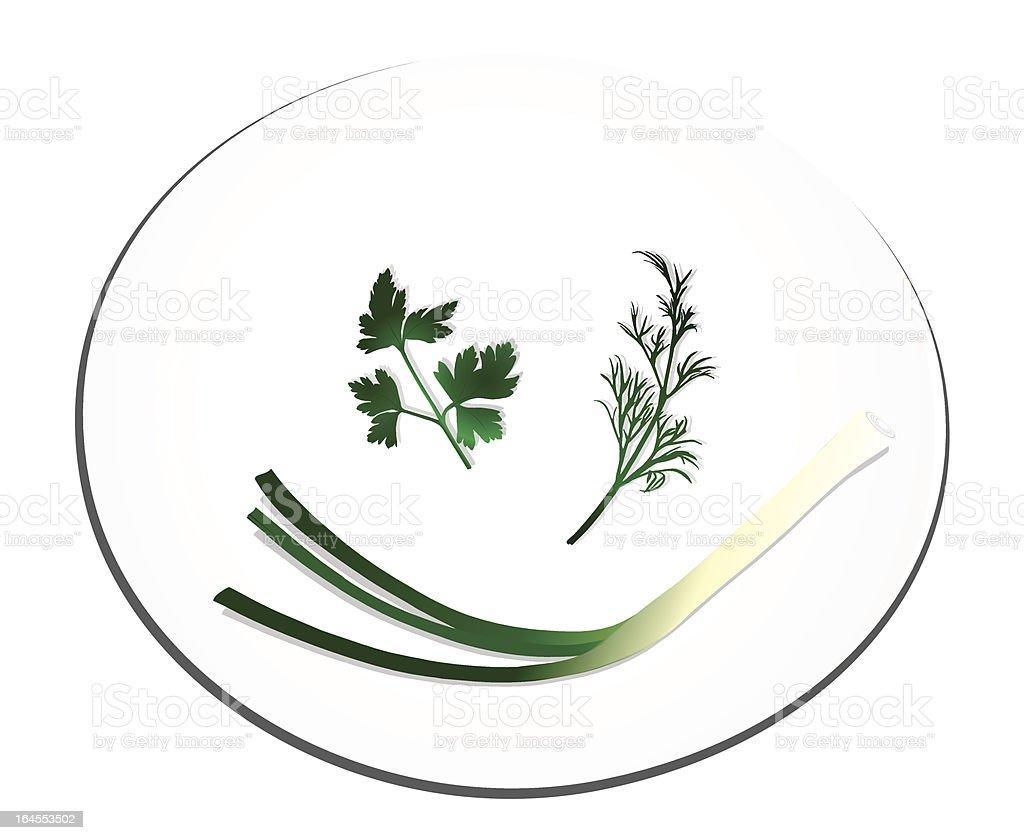 Healthy Plate vector art illustration