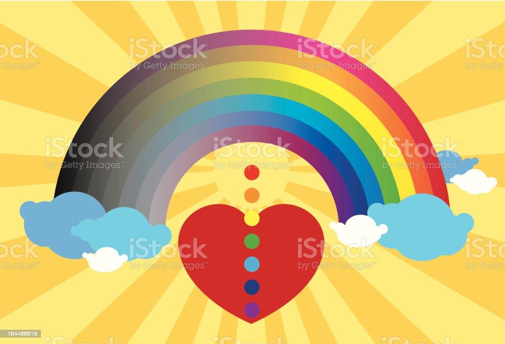 heart and rainbow of hope royalty-free stock vector art