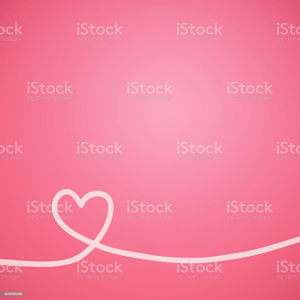 Heart background vector art illustration