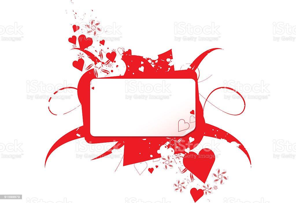 Heart Banner vector art illustration