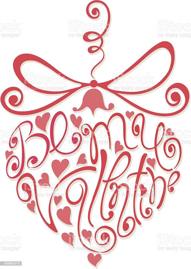 Heart - Be my Valentine royalty-free stock vector art