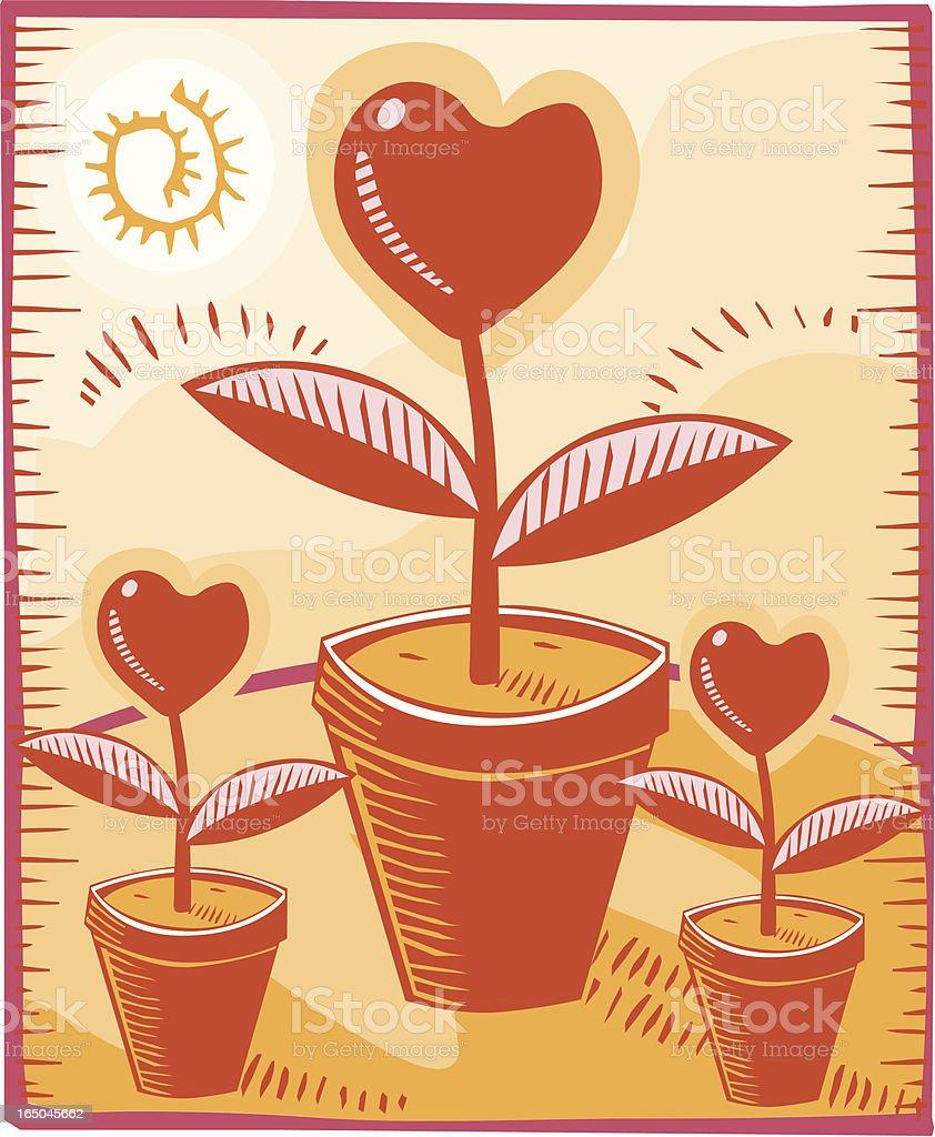 Heart flowers royalty-free stock vector art