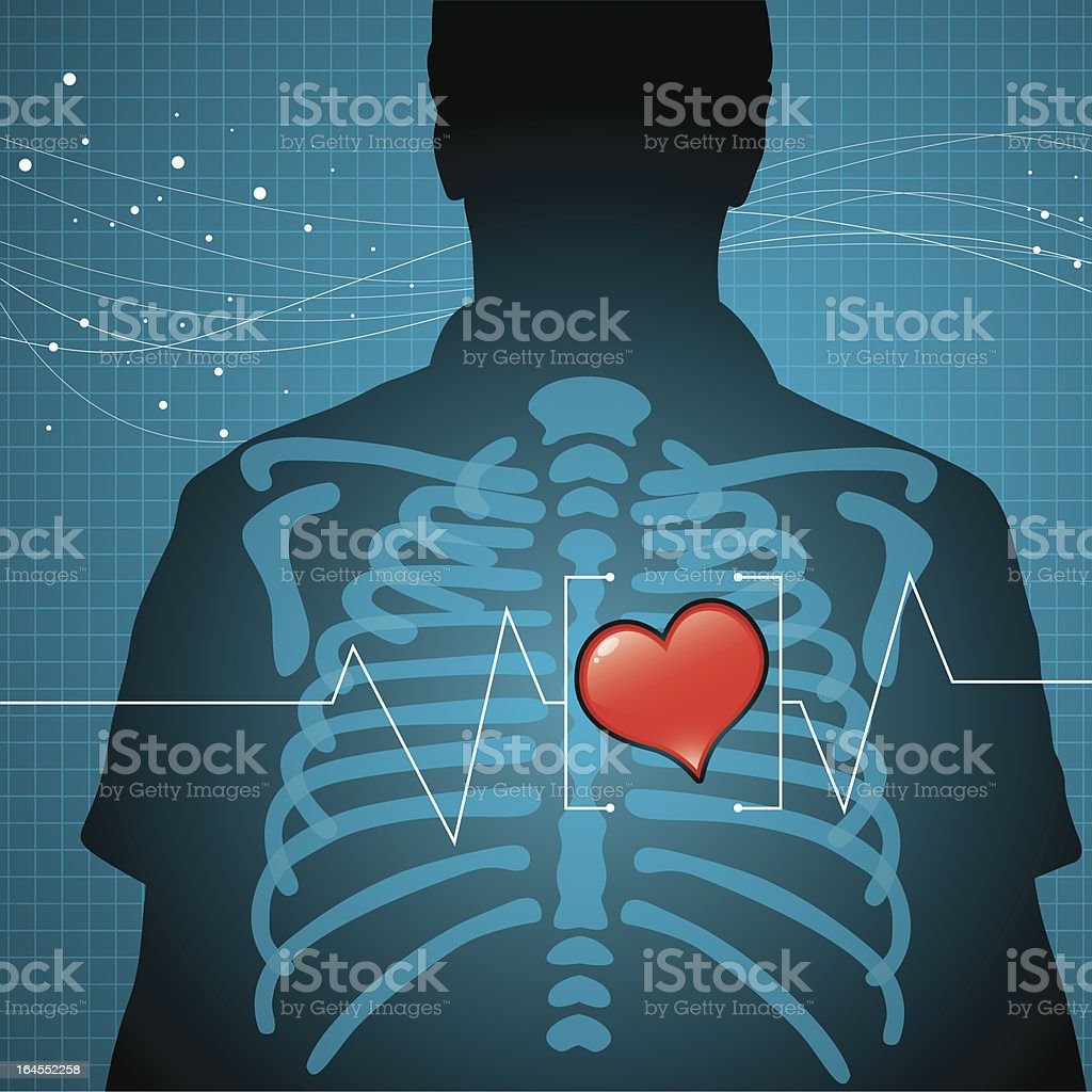Heart health vector art illustration