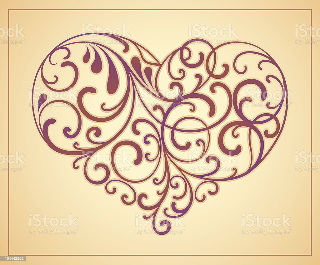 Heart is decorated design elements royalty-free stock vector art