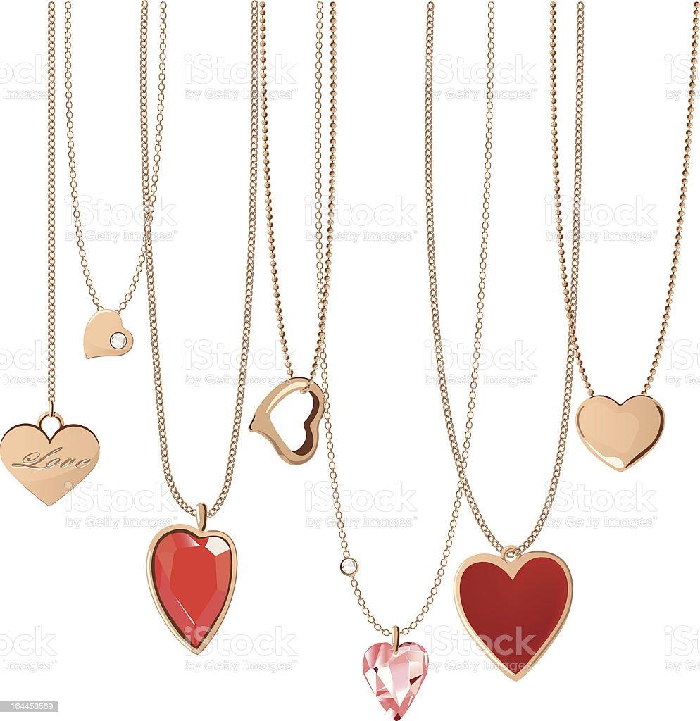 Heart Jewellery vector art illustration