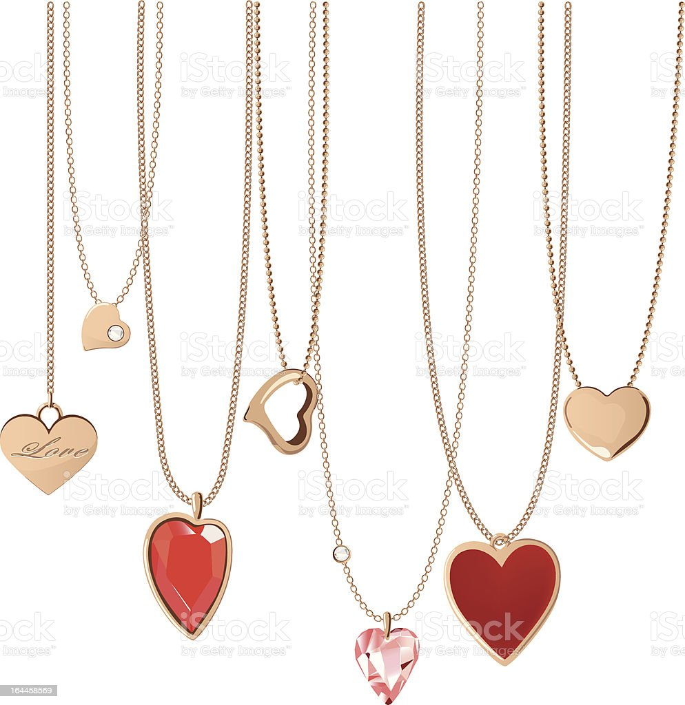 Heart Jewellery vector art illustration