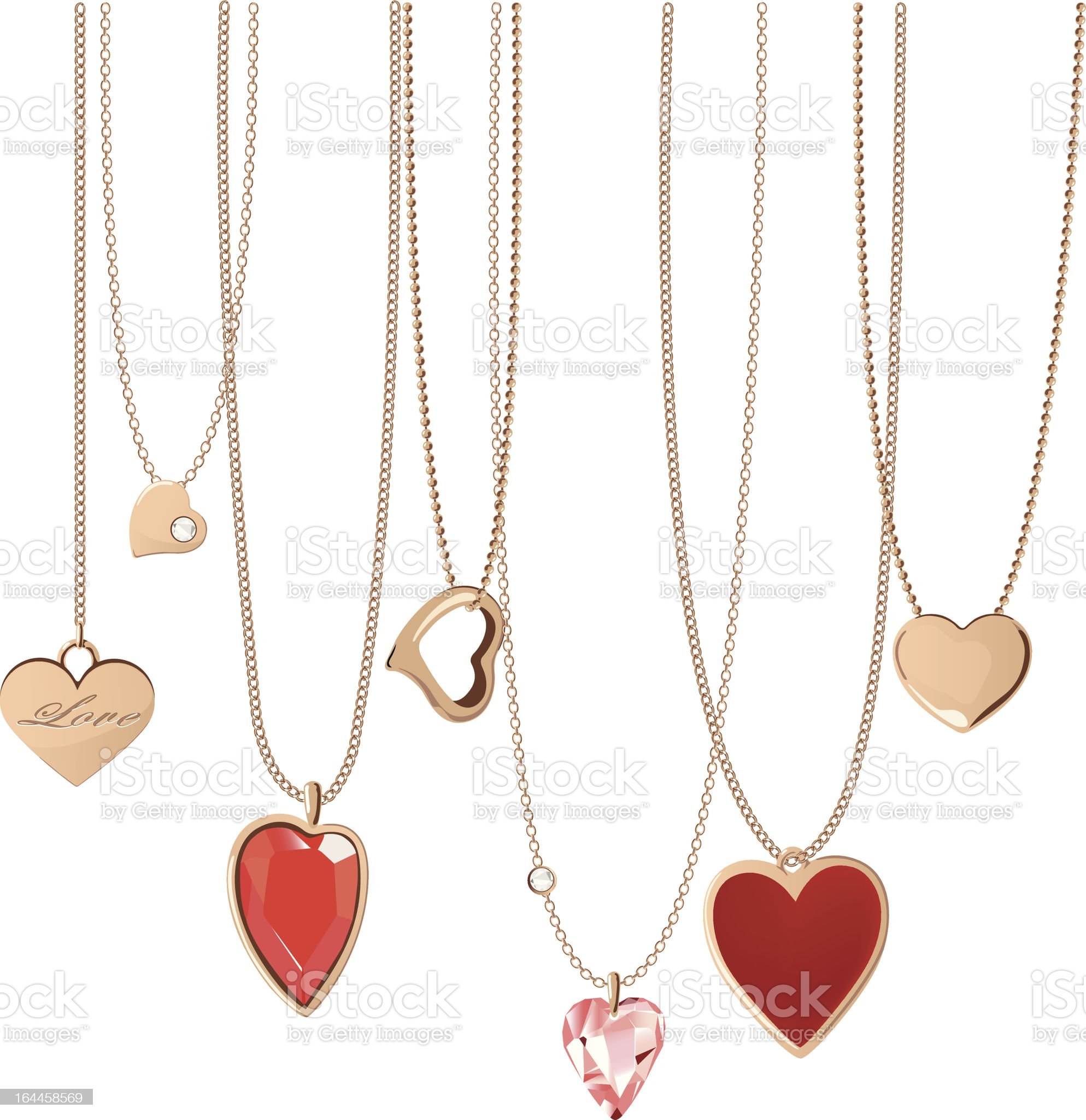 Heart Jewellery royalty-free stock vector art