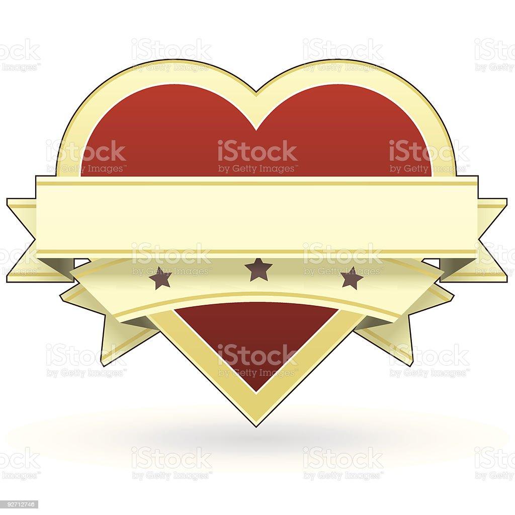 Heart label or sticker vector art illustration