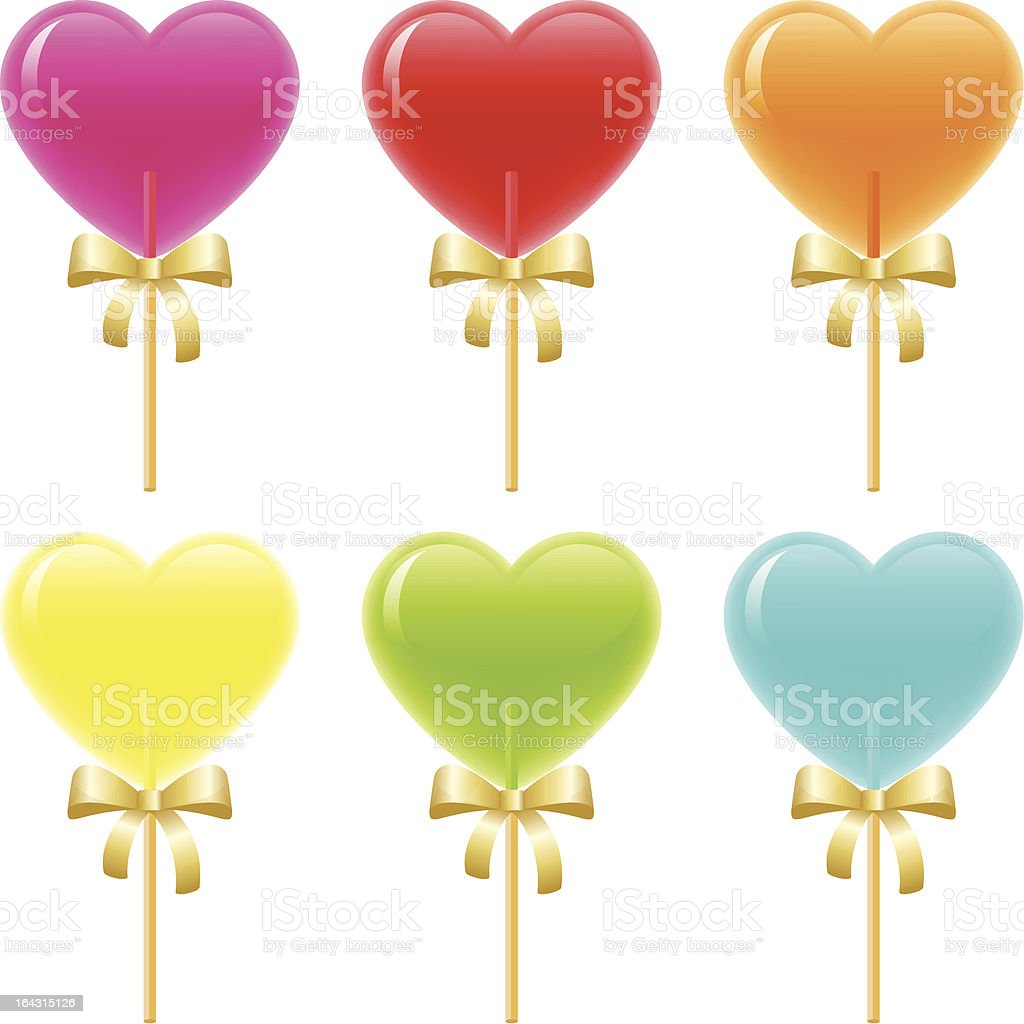 Heart Lollipops royalty-free stock vector art