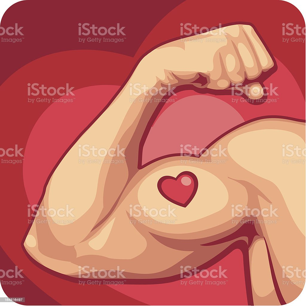 I Heart Muscles royalty-free stock vector art