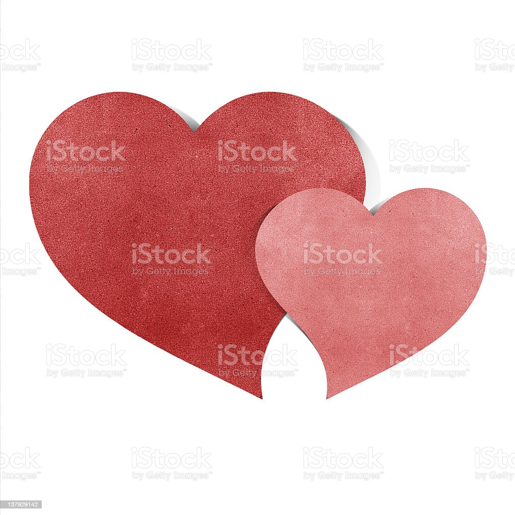 heart origami recycled papercraft royalty-free stock vector art