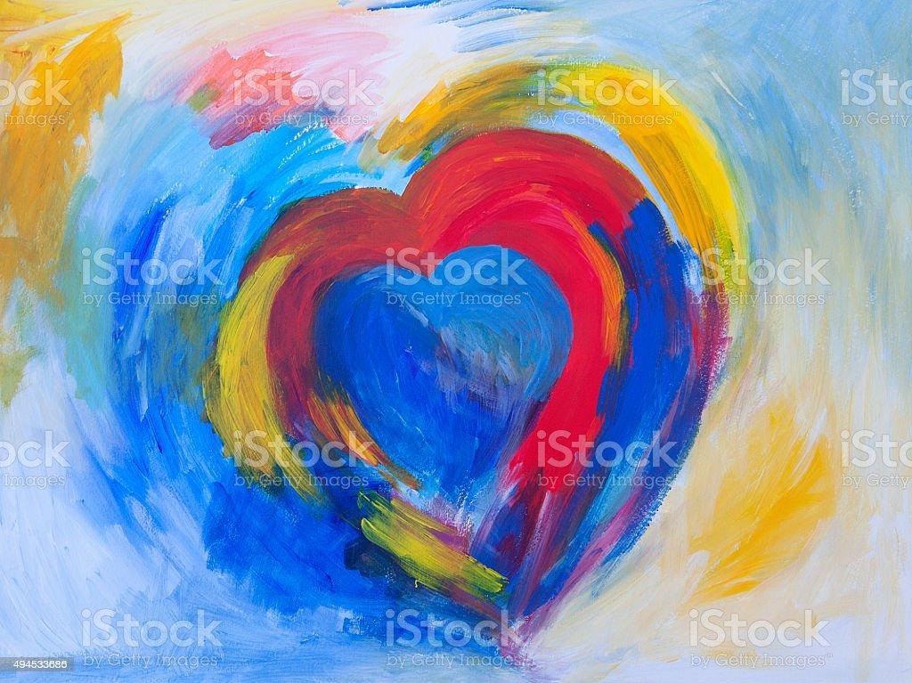 Heart painting vector art illustration