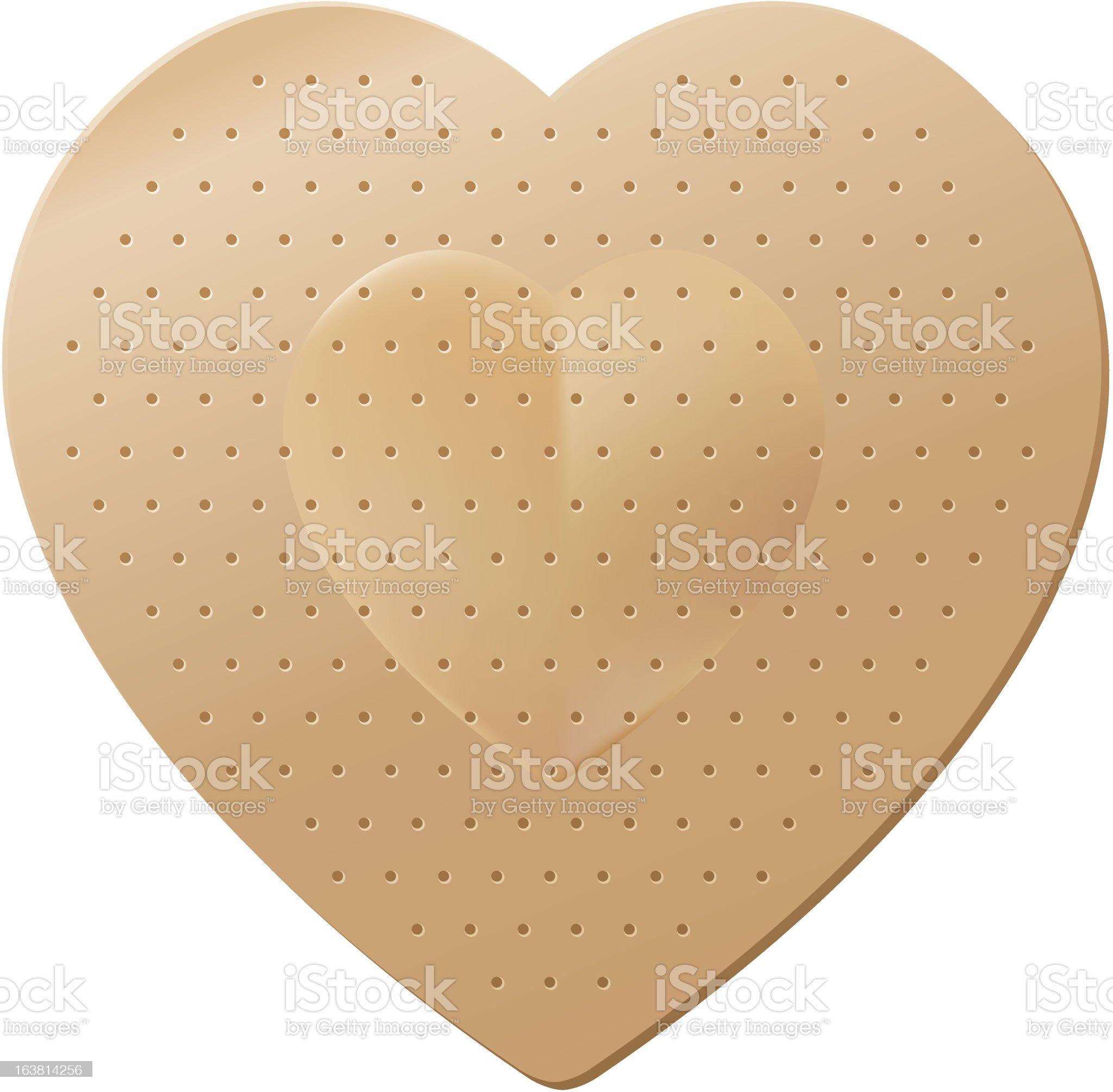 Heart Shaped Bandage royalty-free stock vector art