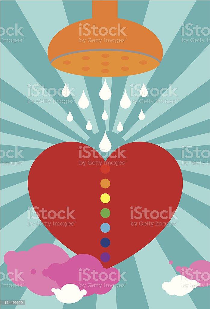 heart spiritual cleansing and chakra balancing royalty-free stock vector art