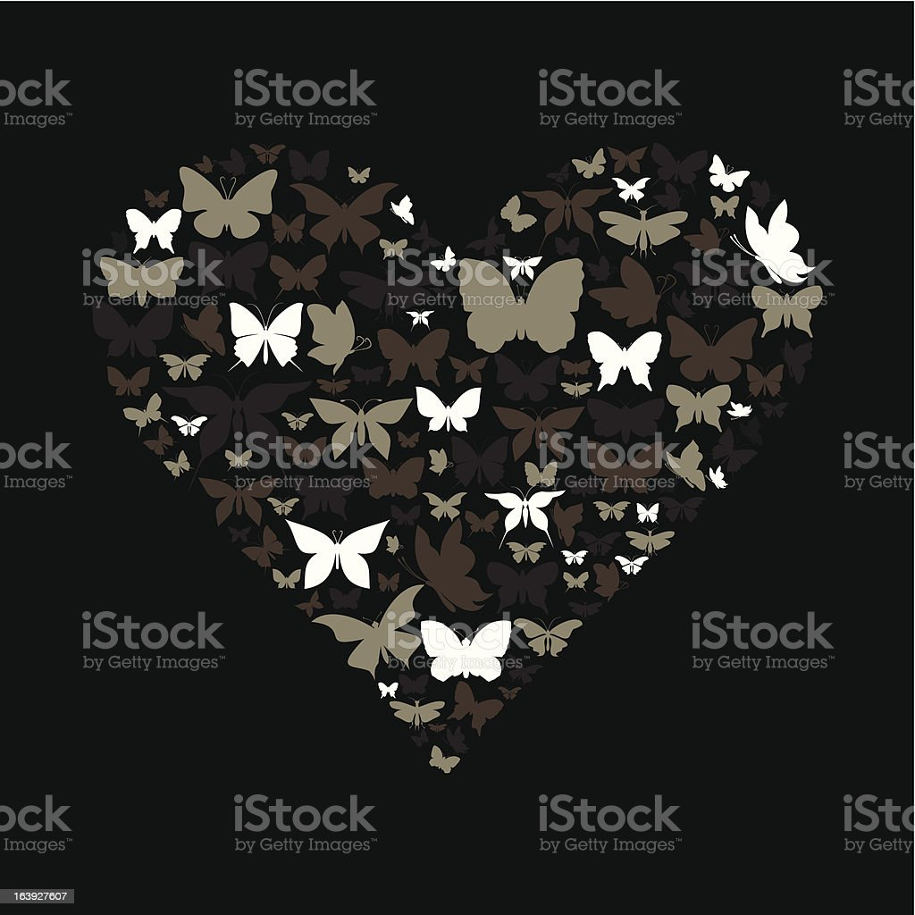 Heart the butterfly royalty-free stock vector art