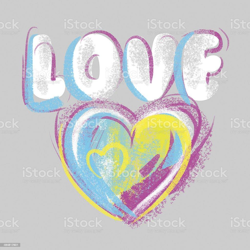 Herz Valentinstag Zeichnen Mit Kreide Auf Einem Grauen Hintergrund ...