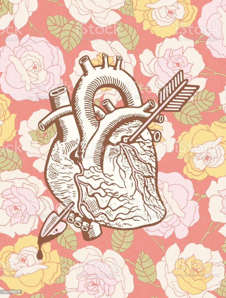 Heart with arrow royalty-free stock vector art