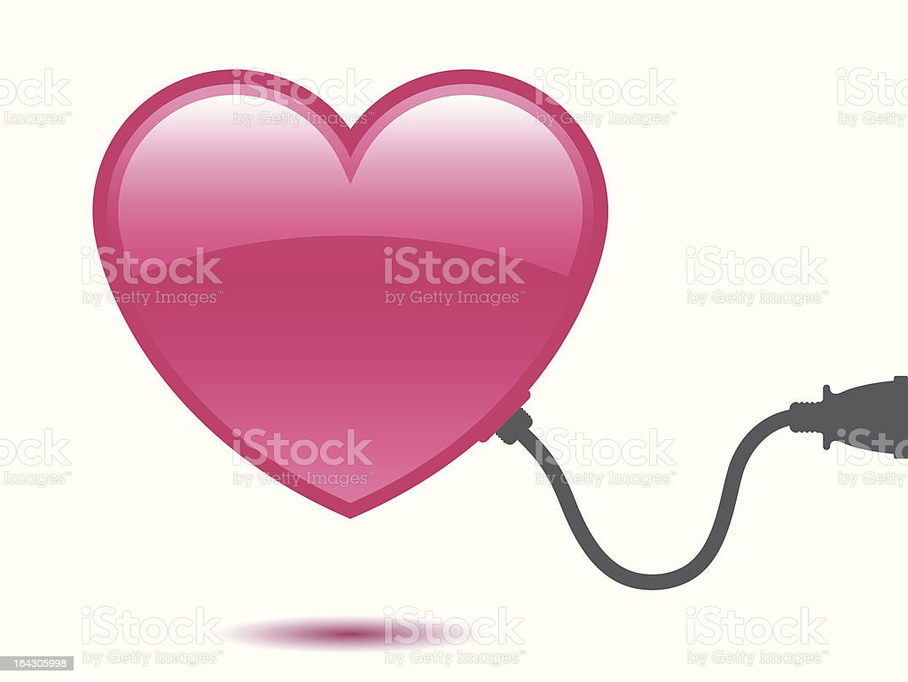 Heart with connector royalty-free stock vector art