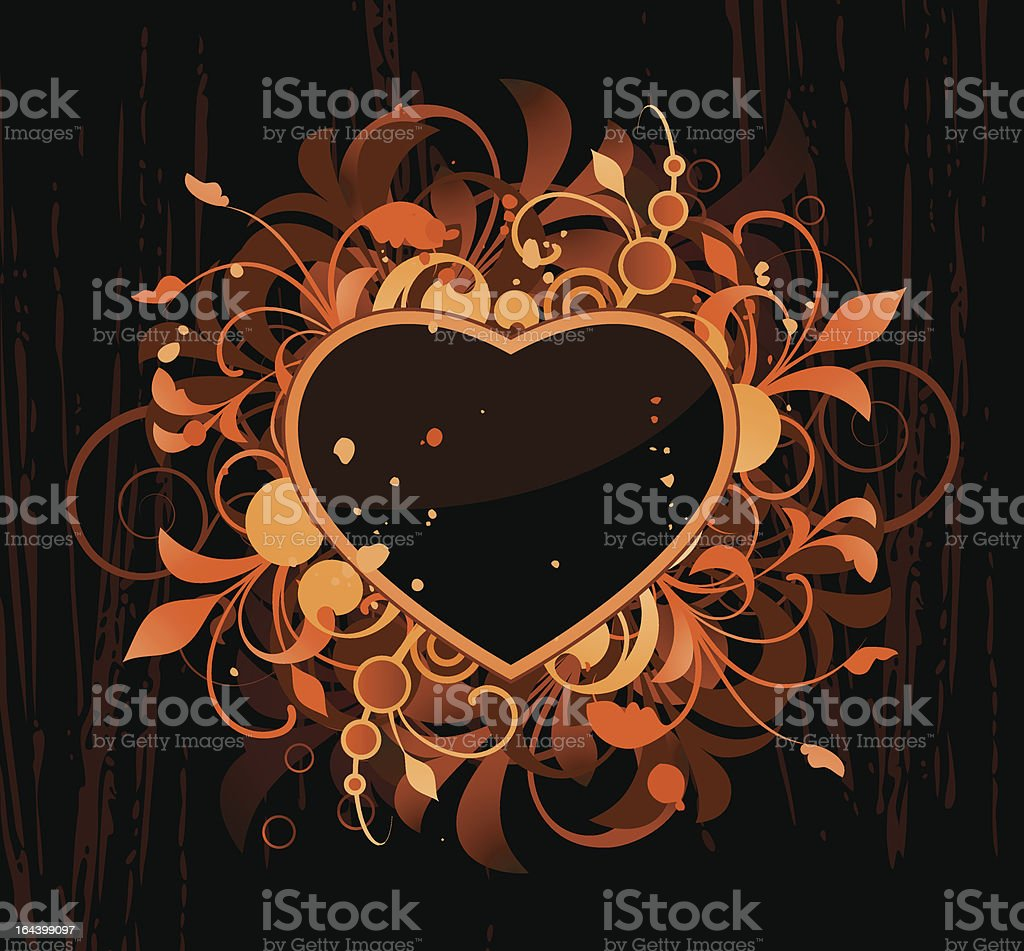 Heart with design elements royalty-free stock vector art