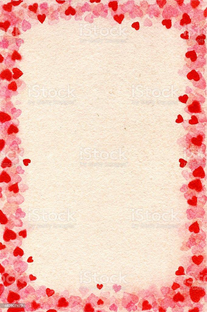 Heart-frame for Valentine's Day vector art illustration