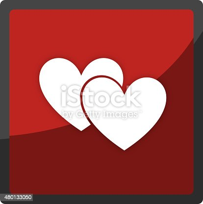Hearts App Button Icon Symbol Stock Vector Art 480133050 Istock