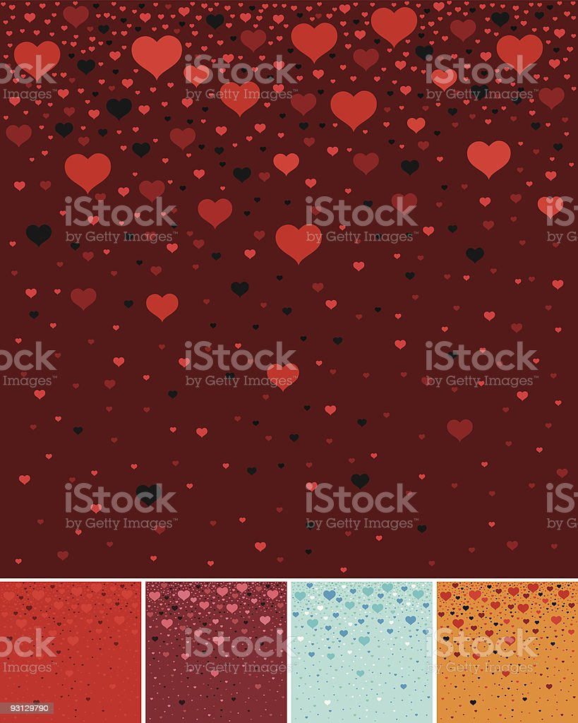 Hearts background royalty-free stock vector art
