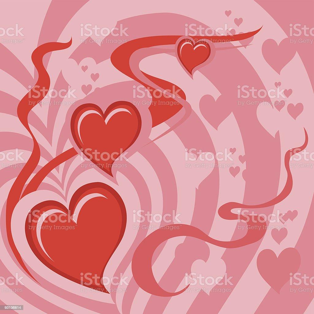 Hearts Background (vector + XXL jpg in ZIP folder) royalty-free stock vector art
