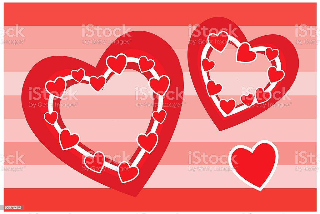 Hearts for Valentine's day royalty-free stock vector art
