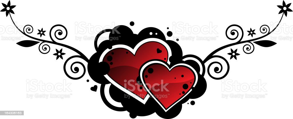 hearts royalty-free stock vector art