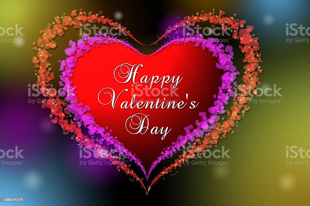 Coeur avec texte de Saint-Valentin stock vecteur libres de droits libre de droits