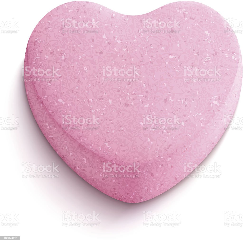 Heart-shaped candy vector art illustration