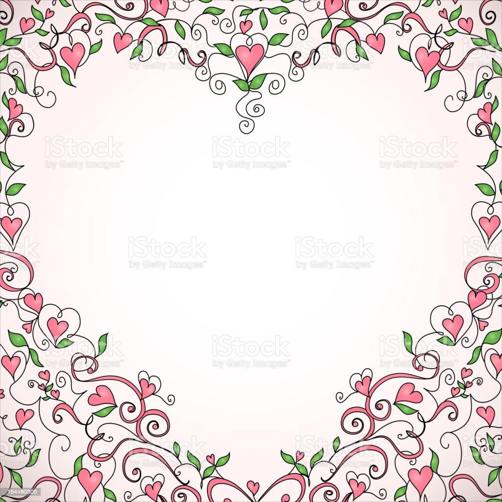 Heart-shaped frame royalty-free stock vector art