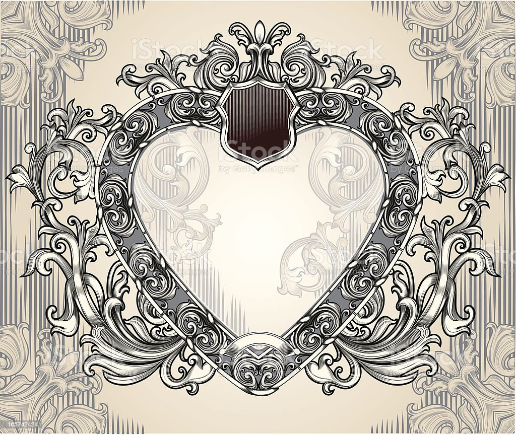 Heart-shaped frame royalty-free stock vector art