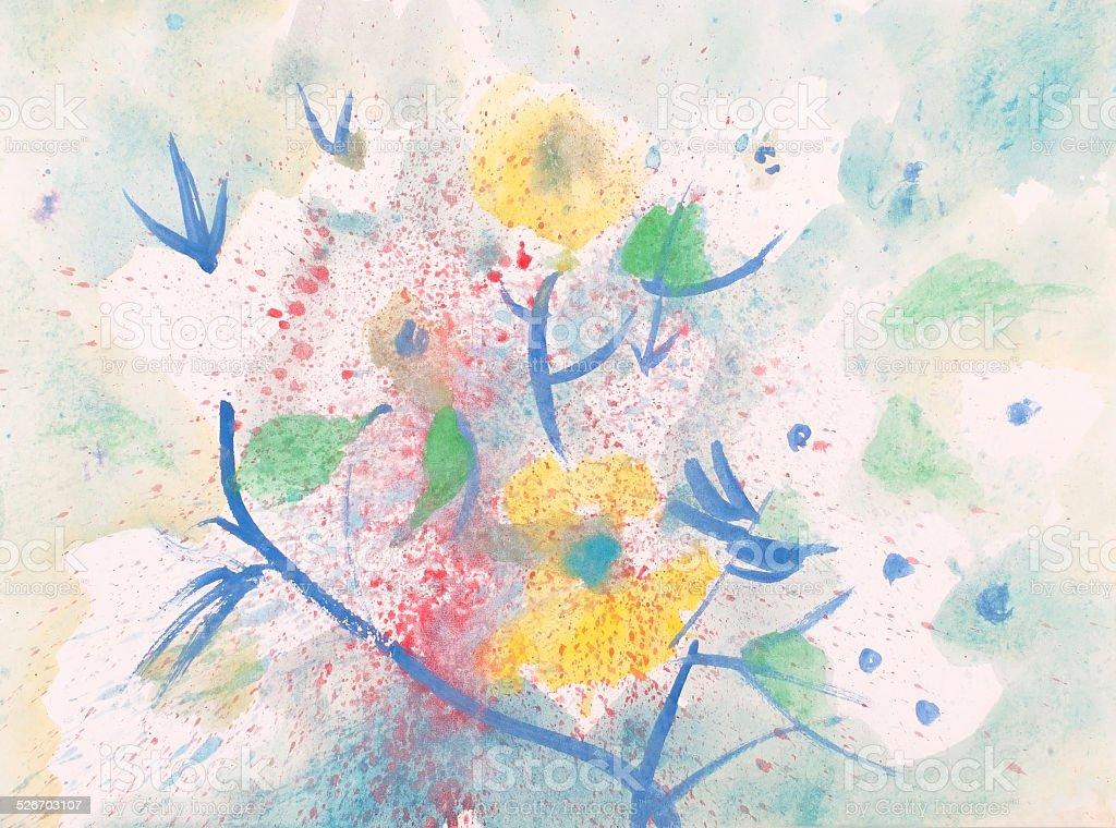 Abundantes flores illustracion libre de derechos libre de derechos